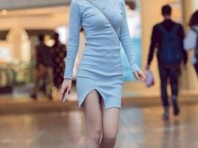 街拍之家的身材好姑娘穿上短裤或连衣裙才更耐看