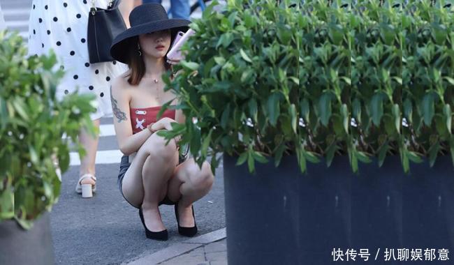 很多街拍镜头中的路人女生,长相一点不输女星